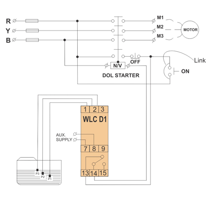 electrical connection diagram  moisture control relay connection